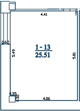 Patalpa 2L1-13